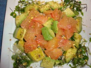 grapefruit avocado salad 007