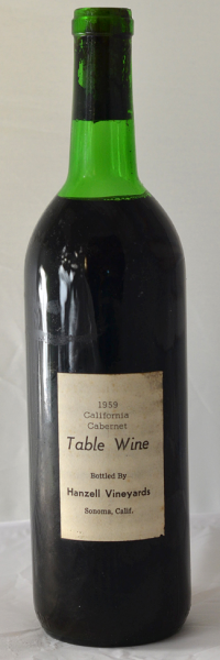 5 Hanzell Vineyards 1959 Cabernet