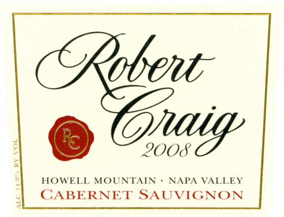 Robert Craig Howell Mountain Cabernet Sauvignon 2008