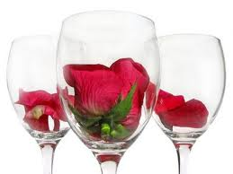 rose wine and roses
