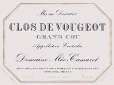 clos vougeot label