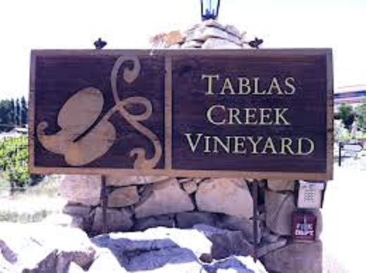 Tablas Creek Vineyard winery sign