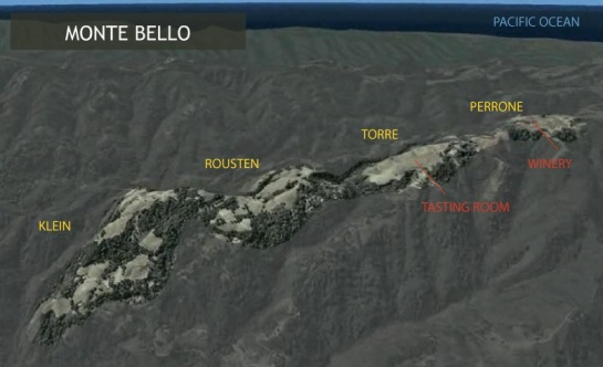 ridge monte bello map