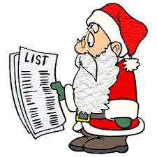 santas list cartoon