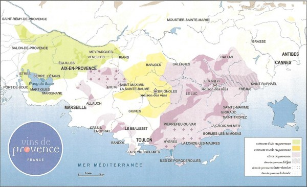 Provence wine map