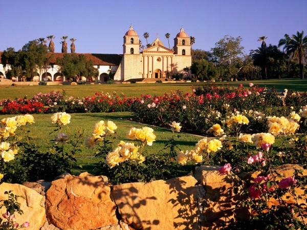santa barbara rose garden