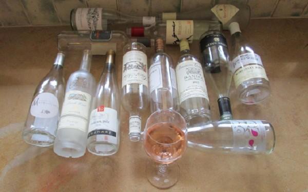 15 rose bottles