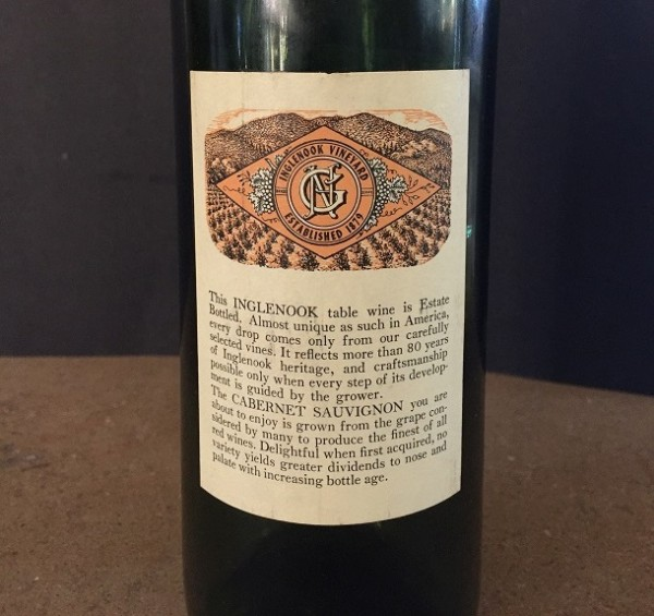 60 inglenook back label