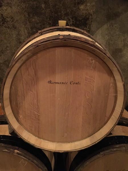 2015 Romanee-Conti barrel