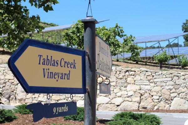 tablas creek signs