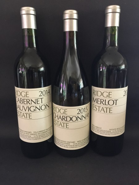 14 and 15 Ridge wines