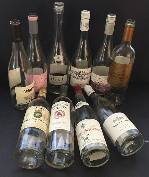 16 rose bottles