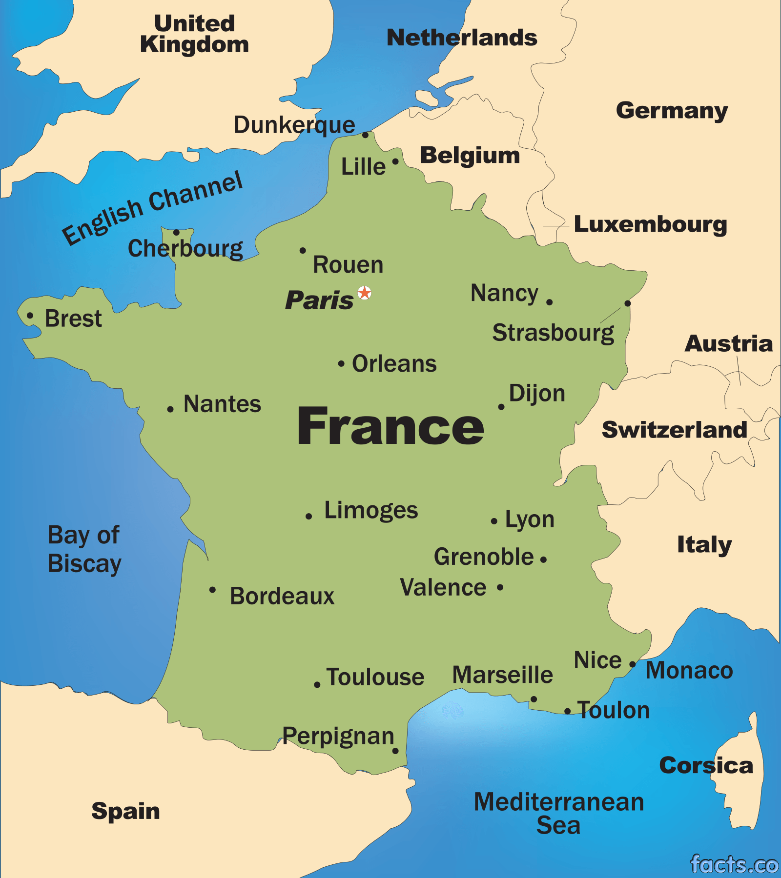 The underground wine letter map of france for Map of france