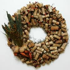 holiday wreath - corks
