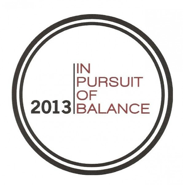 pursuit of balance 2013 logo