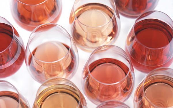glasses of rose