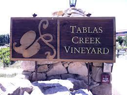 Tablas Creek Vineyard winery sign
