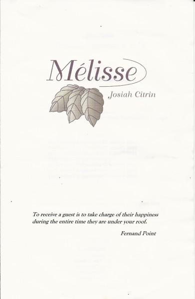 Melisse 1