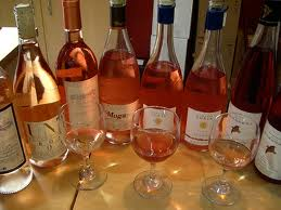 open bottles of rose