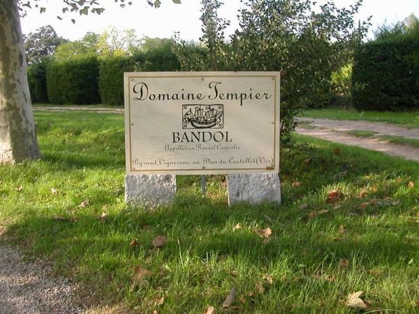 Domaine Tempier sign