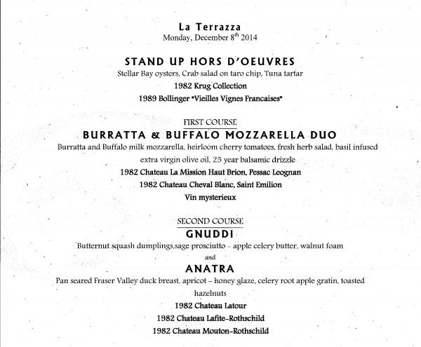 La Terraza menu