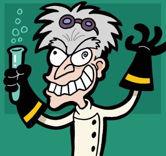 mad scientist cartoon