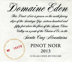 Domaine Eden 2013 pinot noir
