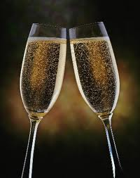 champagne in glasses new years eve